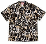 Polynesian Cave Fantasy men's cotton aloha shirt