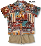 Polynesian Life Cycle Boy's 2pc Cabana Set