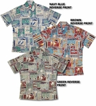 Polynesian Life Cycle Men's Reverse print aloha Shirt