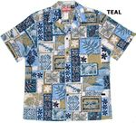Tapa Tribal Icons men's cotton aloha shirt