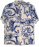 Polynesian Waterman men's hawaiian shirt aloha style