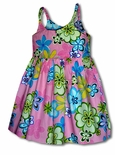 Pretty Colorful Flowers Girl's Bungee Dress
