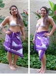 Anthurium Border Hand Painted Half Size Sarong