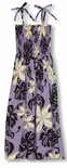 Purple Tahitian Gardenia Shannon Marie Smocked Sundress
