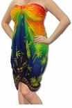 Rainbow Sheer Palm Tree Full Size Terivoile Sarong