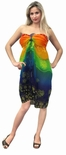 Rainbow Sheer Angel Fish Full Size Terivoile Sarong