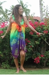Rainbow Sheer Fish Sarong