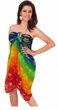 Rainbow Sheer Turtle Full Size Treivoile Sarong