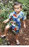 Red Hibiscus Island Boys 2pc Set