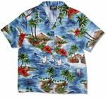 CLOSEOUT Red Hibiscus Island Women's Shirt