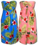 Red White Hibiscus 3 in one Convertible Sundress