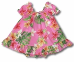 Colorful  Plumeria girl's keiki infant cotton cabana