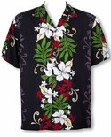 Rene Hibiscus Panel men's Hawaiian shirt