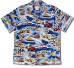 Hawaii Fire Fighter Trucks mens shirt
