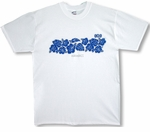 Resort 808 Floral Chest Band Cotton Tee Shirt