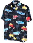 Restomod Muscle Cars men's cotton aloha shirt