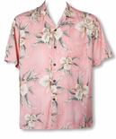 Retro Orchid men's Hawaiian shirt