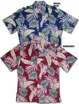 Broadcloth Aloha Shirts with cotton reverse print, full placket front with ivy league collar