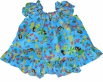Hula Girl Fun II Girl's Puff Sleeve 2 pc Set
