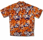Roaring Tiger Vintage Print - Pineapple Juice 100% Rayon Men's Shirt