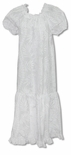 Rose Lei Panel White Dress