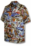 Route 66 Men's cotton aloha shirt