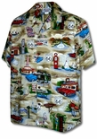 Route 66 Travel Sights Men's Cotton aloha shirt
