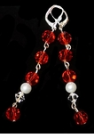 Ruby Riot 2 1/4 inch strands of Swarovski and Austrian crystals with pearls