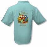 Rum For All Parrots Men's Luau Embroidered Shirt