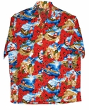Santa Claus Christmas Rayon Shirt