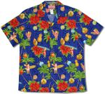 Christmas Tapa Santa men's hawaiian shirt