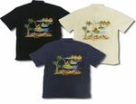 Santa Jet Ski Embroidered Shirt