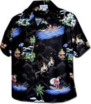 Santa's Hawaiian Christmas Vacation Womens Shirt