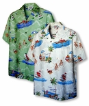 Santa's Hawaiian Christmas Vacation men's shirt