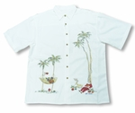 Santa's Holiday Layover Men's Embroidered Shirt - Last One in 3X