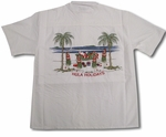 Santa's Hula Girl Holidays Embroidered Shirt
