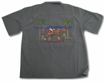 Santa's Hula Girl Holidays Men's Shirt