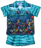 Scuba Dream boy's cotton cabana set