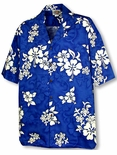Shadow White Hibiscus Men's Shirt