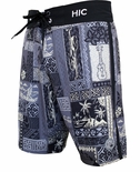"21"" Silver Channel HIC 8 way stretch board shorts"
