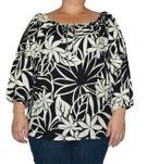 April Blooms women's peasant blouse