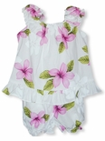 Single Tone Plumeria Girl's Puff Sleeve 2 piece Set