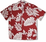 Single Color Ferns RJC Cotton Aloha Shirt