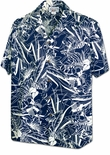 Single Color Jungle men's cotton Aloha shirt