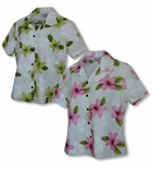 Single Tone Plumeria Women's Fitted Blouse