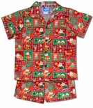 Snowman, Santa Surfboard cotton cabana set