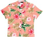 Soft Pink Hibiscus Women's Hawaiian Camp Shirt