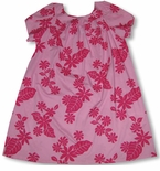 Solid Color Floral Women's Cotton/Polyester Blend Mu'u Mu'u Dress