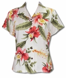 Sonic Orchid Womens Fitted Blouse