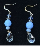 Spicy Icy Chalcedony Swarovski Crystal Earrings